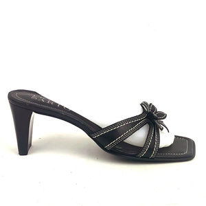 Franco Sarto Black Strappy Sandals Slip On Heels